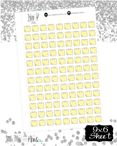 Yellow Sticky Note Stickers <Little Icons> | Erin Condren, Happy Planner Stickers, Personal Planner
