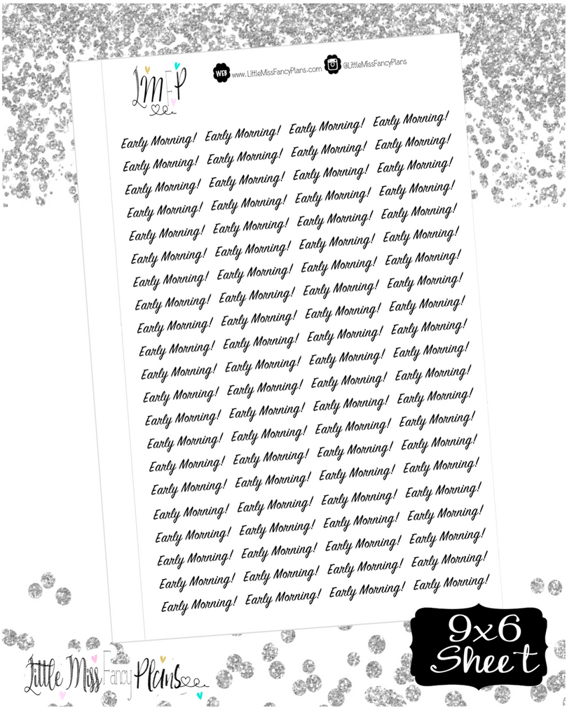 Early Morning! <JW Ministry Wording> - Erin Condrin, Happy Planner Stickers, Personal Planner