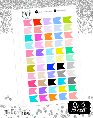 Blank Flag Stickers <Labels and Flags>