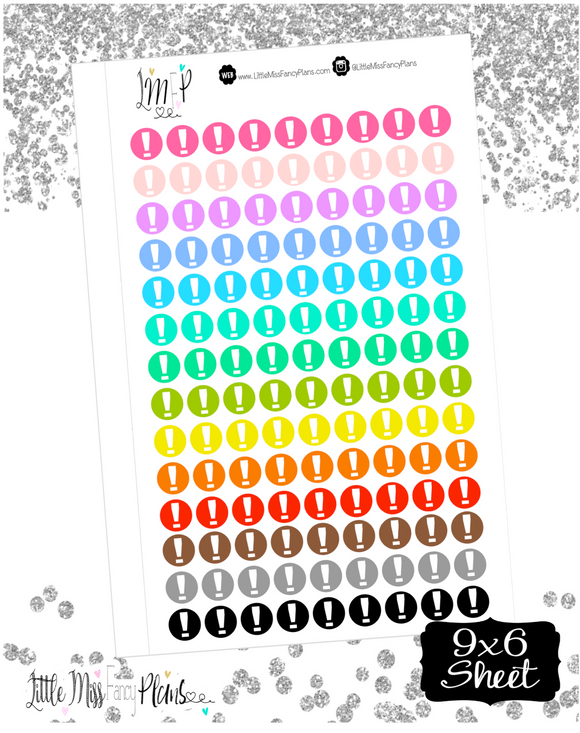 Exclamatian Dots Stickers <Little Dots>
