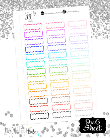 Scalloped Labels <Multi Colored>