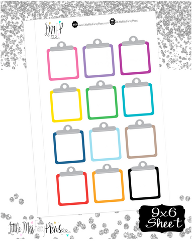 Clipboard Box Stickers <Boxes>