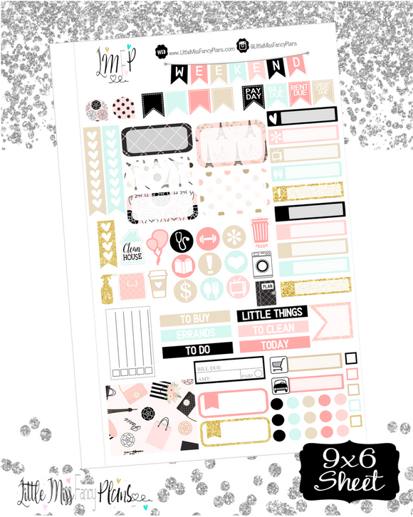 A Night In Paris <Full Page Sticker Kit>
