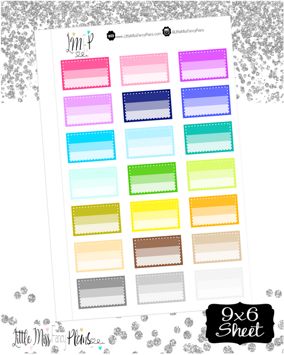 Colorful Ombre Boxes <Dotted Line>