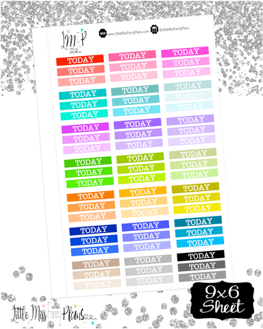 Colorful Today Stickers <Headers>