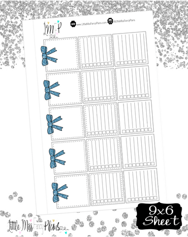 Tri Fold Double List Stickers<Navy Blue Glitter>