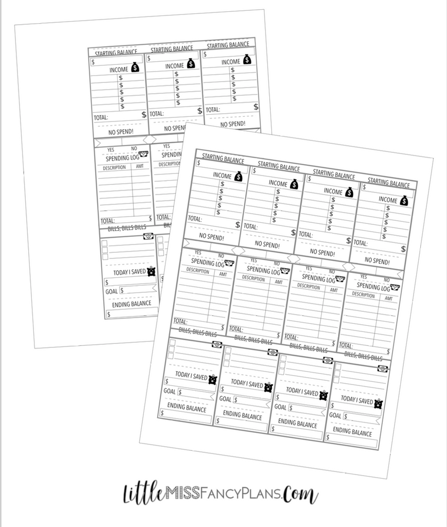 picture about Happy Planner Budget Printable identify Funds - Template For Printing Inserts Huge Dimension Joyful
