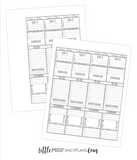 Template For Printing On Happy Planner Inserts with Top 3 <Printables>  |  BIG Size Happy Planner