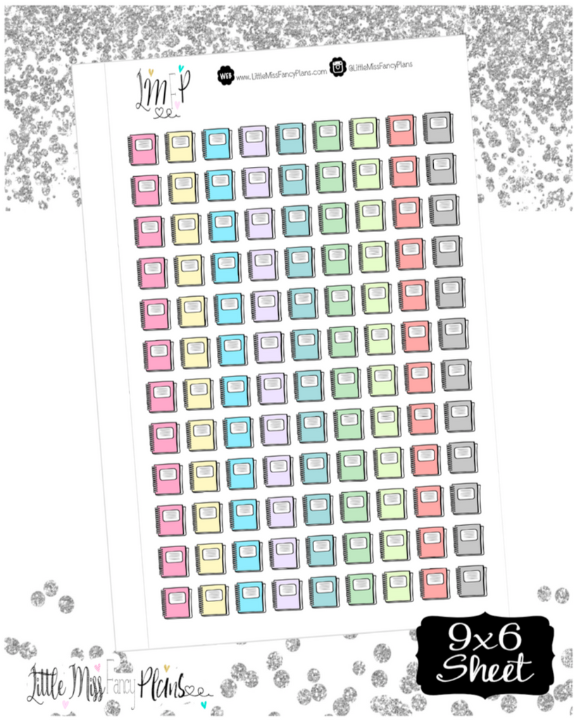 Notebook Stickers <Little Icons> | Erin Condren, Happy Planner Stickers, Personal Planner