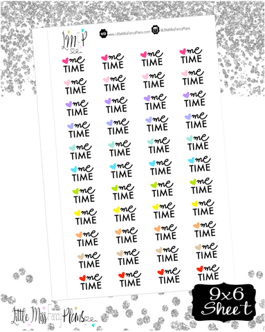 Me Time with Heart Stickers <Wording Stickers>