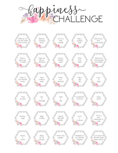 30 Day Happiness Challenge  <Printables> | Classic Size Happy Planner
