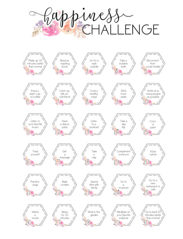 30 Day Happiness Challenge  <Printables> | Mini Size Happy Planner