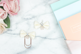 Fabric Bow Clip Charm - ADD COLOR TO NOTES OF ORDER