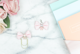 Fabric Bow Paper Clip - ADD COLOR TO NOTES OF ORDER