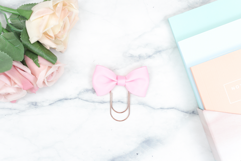 Blush Pink Single Bow Paper Paper Clip