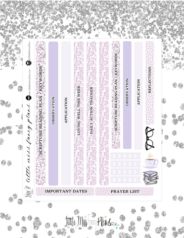 Lavender Colored Faith Kit <Classic Faith Kit>