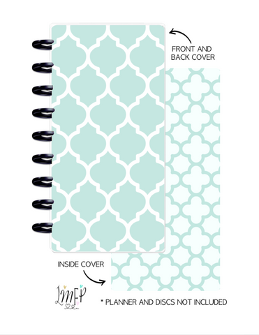 Half Sheet Cover Set of 2 <Double Sided Print> Moroccan Teal