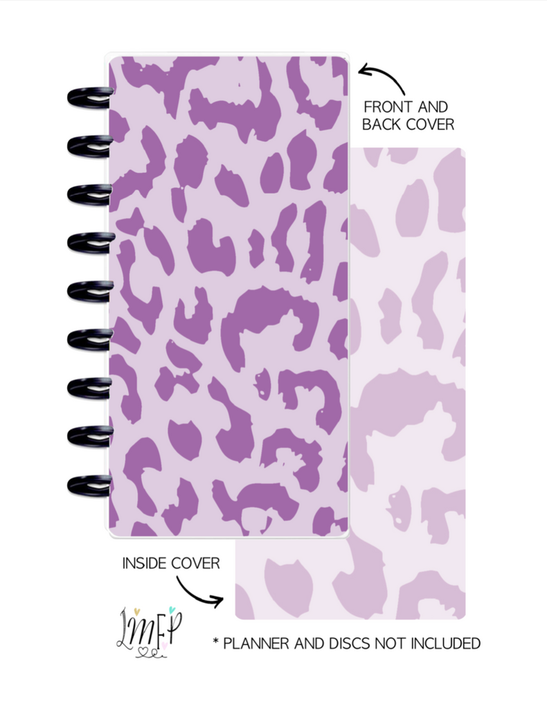 Half Sheet Cover Set of 2 <Double Sided Print> Cheetah Print Purple