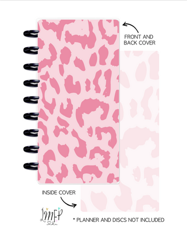 Half Sheet Cover Set of 2 <Double Sided Print> Cheetah Print Pink