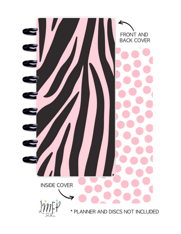 Half Sheet Cover Set of 2 <Double Sided Print> Zebra Print Pink