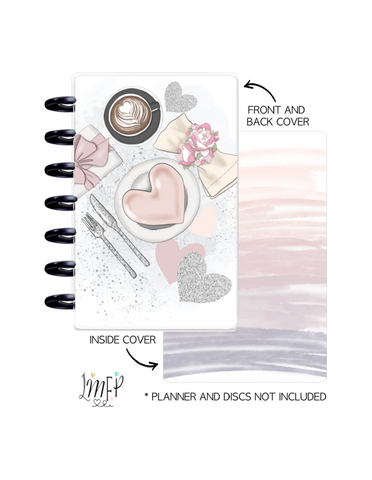 Mini Planner Cover Set of 2 <Double Sided Print> Love is in the air