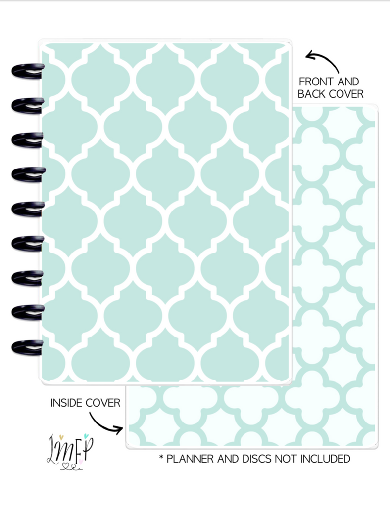 Classic Cover Set of 2 <Double Sided Print> Moroccan Teal