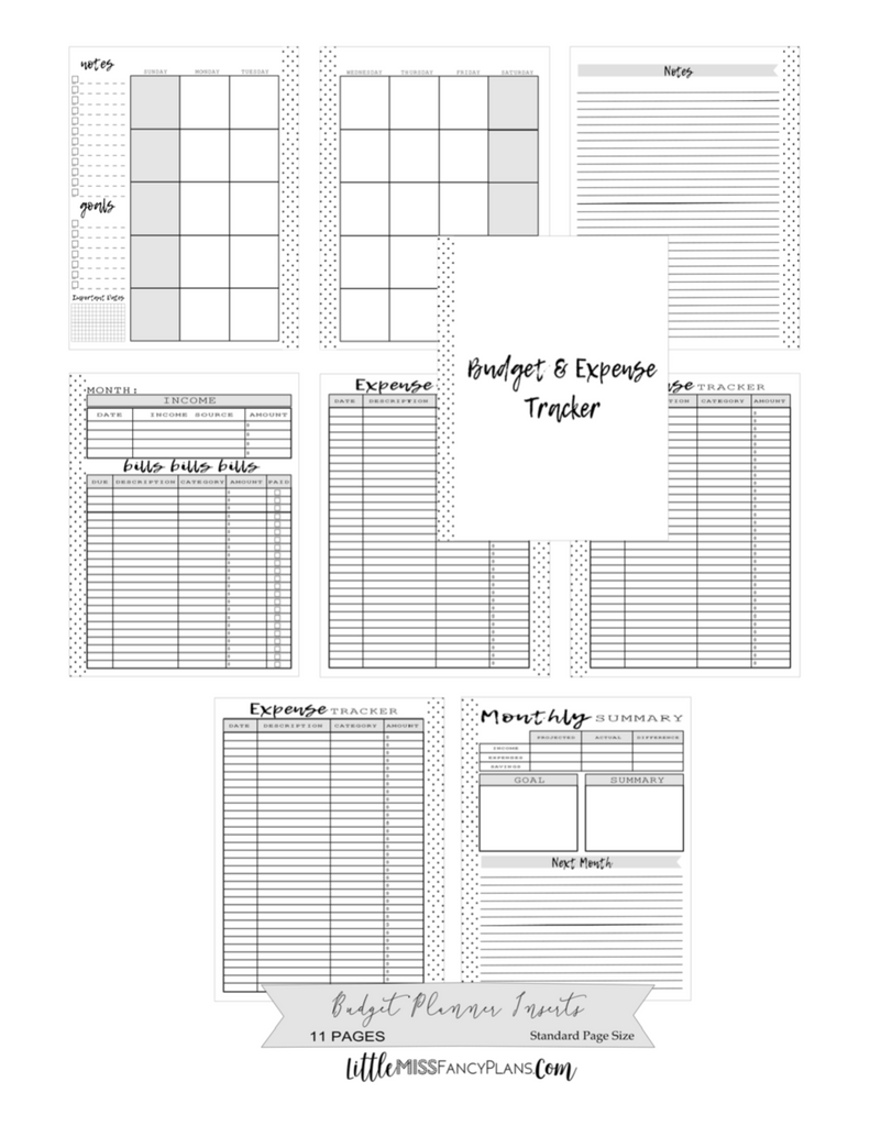Budget and Expense Tracker Planner Inserts <PRINTABLE PDF>