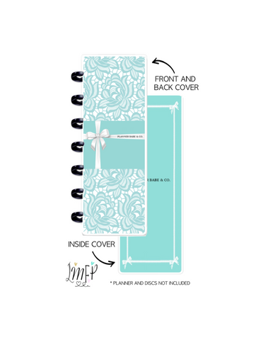 Skinny Mini Cover Set of 2 <Double Sided Print> Planner Babe and Co