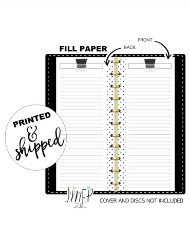 Pink Laptop Lined Fill Paper Inserts <PRINTED AND SHIPPED>