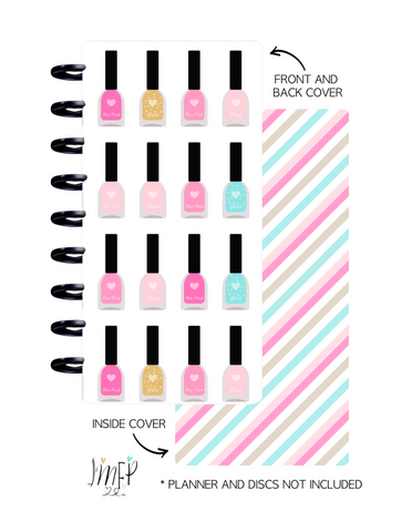Half Sheet Cover Set of 2 <Double Sided Print> Nail Icons