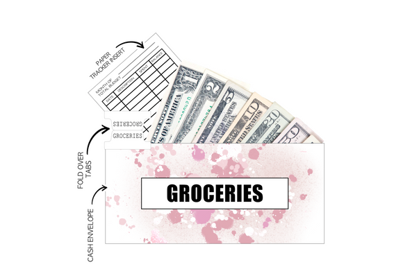 12 Budget Cash Envelopes Laminated <PRINTED AND SHIPPED> Pretty In Pink