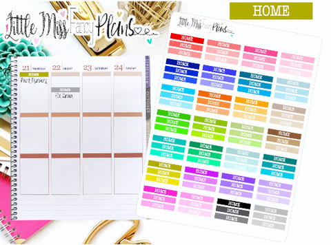 Colorful Home Stickers <Headers>