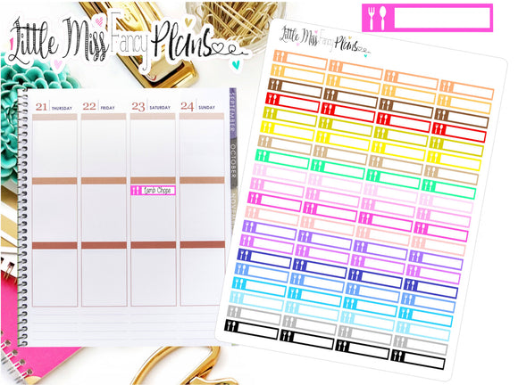 Meal Planning Icon Stickers | Erin Condren, Happy Planner Stickers, Personal Planner