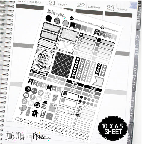 Neutral Chic <Full Page Sticker Kit>