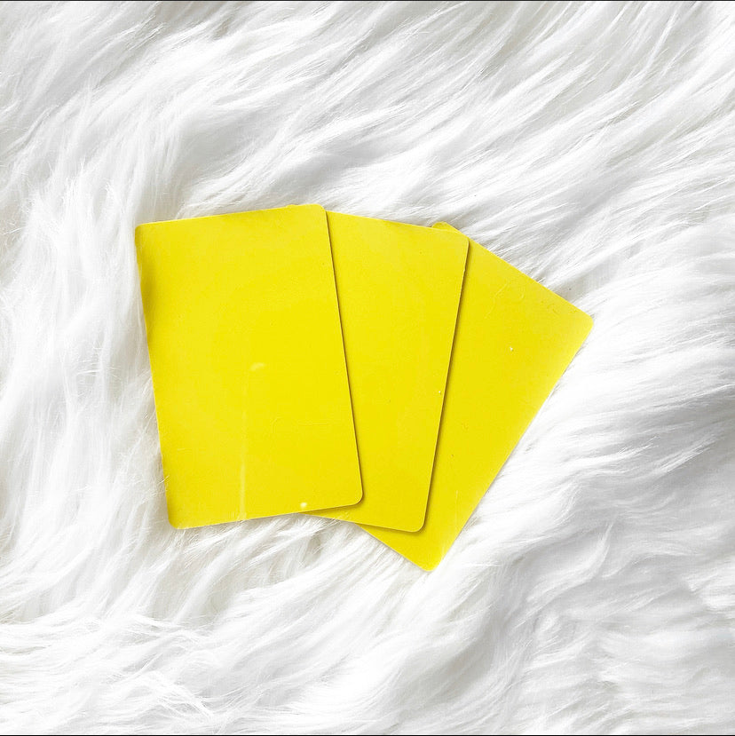 Plastic YELLOW Task Card