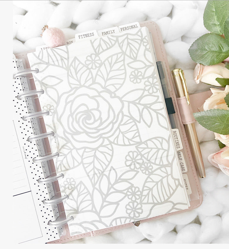 Lace Floral Vellum Cardstock Dashboards <PRINTED AND SHIPPED>