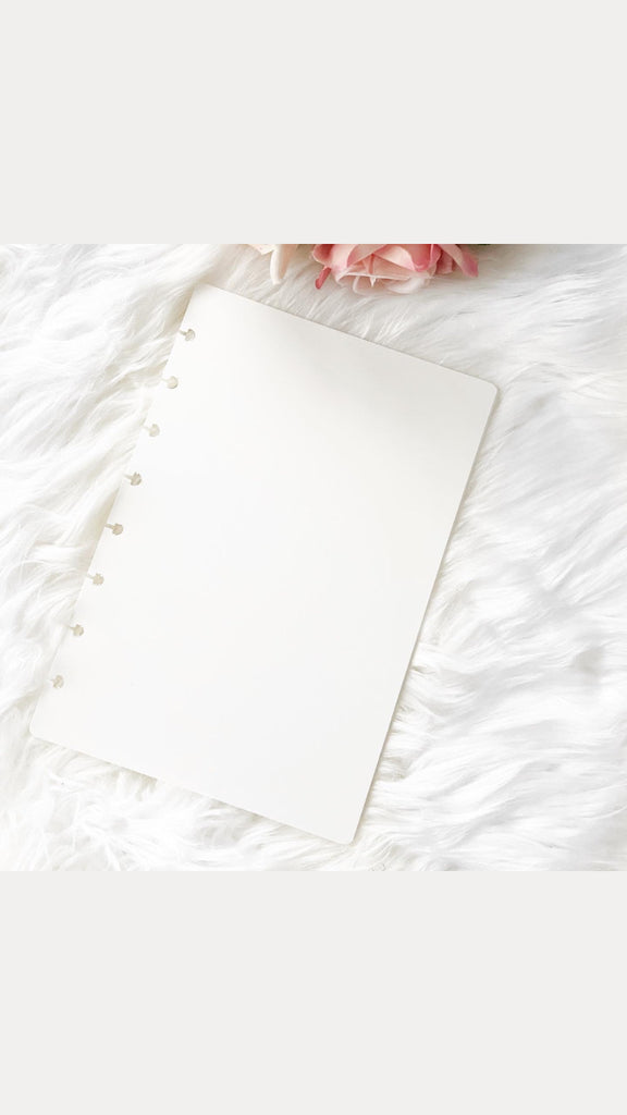 White Poly Hard Plastic Planner Covers