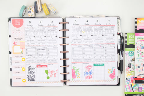 WELLNESS - Template For Printing on Inserts <Printables>  | Classic Size Happy Planner