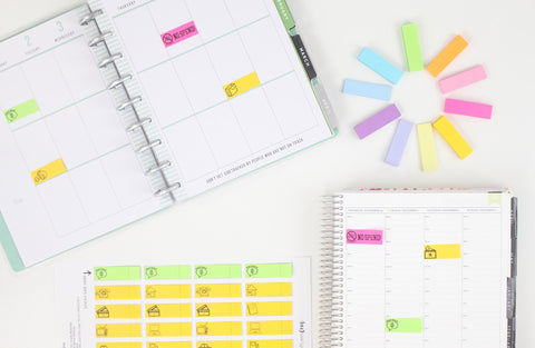 GAS Template For Printing Post-it Sticky Notes <Printables>  | Classic Size Happy Planner, Erin Condren