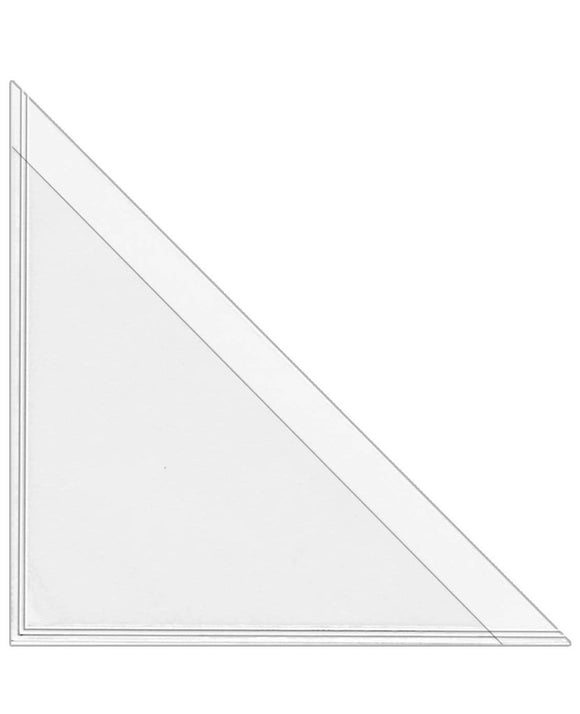 Corner Triangle Adhesive Poly Pocket