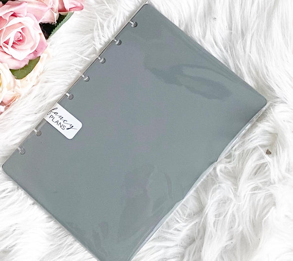 Dark Gray Poly Hard Plastic Planner Covers