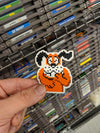 Laughing Duck Hunt Dog Sticker Slap 2.1 x 2.5 inch