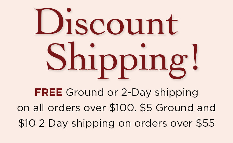 Discount Shipping Free Ground and 2nd Day Air Shipping over $100