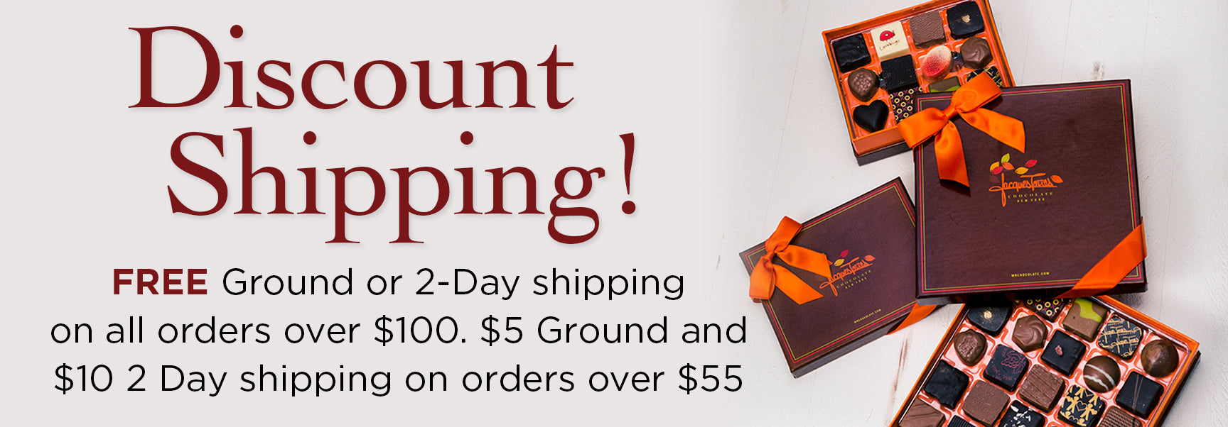Discount Shipping Free Ground and 2 Day Shipping over $100