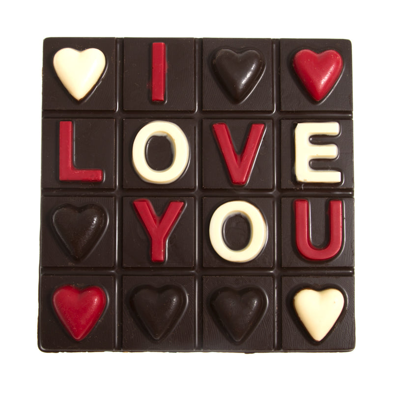 Dark Chocolate I Love You Square by Jacques Torres