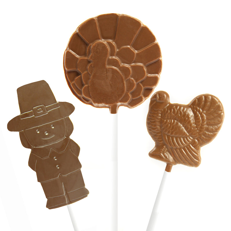 Milk Chocolate Thanksgiving Lollipops - 6 pc and 12 pc by Jacques Torres