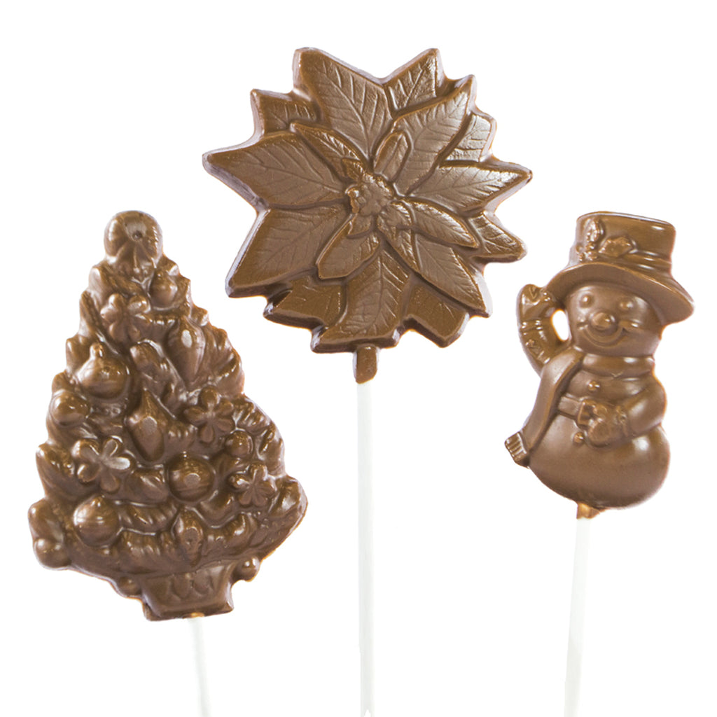 Milk Chocolate 6 pc and 12 pc Christmas Lollipops by Jacques Torres