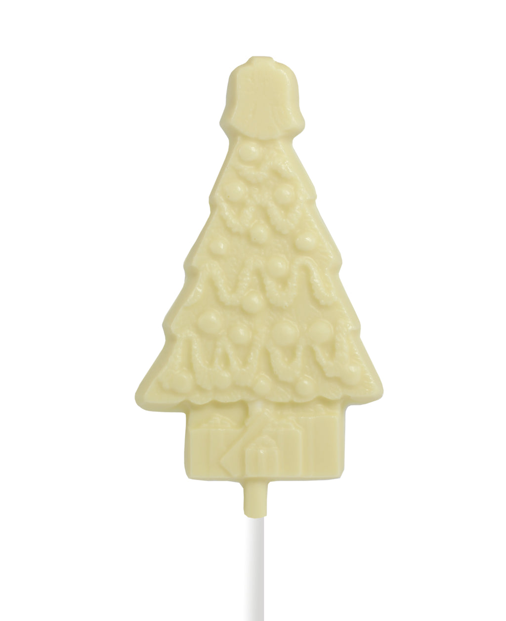 White Chocolate Christmas Tree Lollipop by Jacques Torres