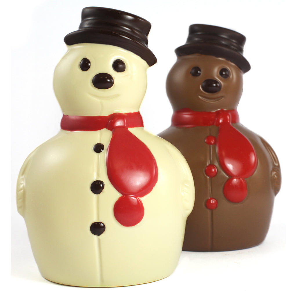 Large White or Milk Chocolate Snowman