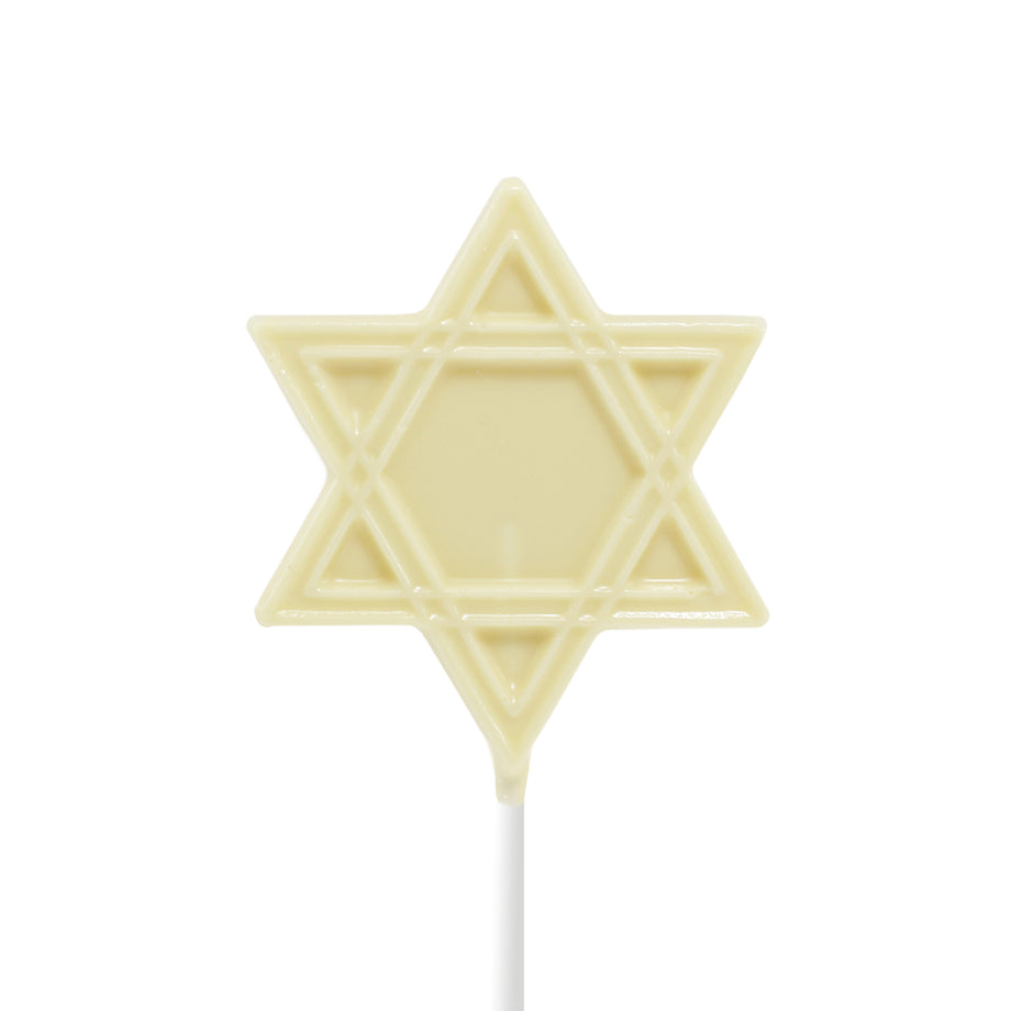 White Chocolate Hanukkah Lollipops